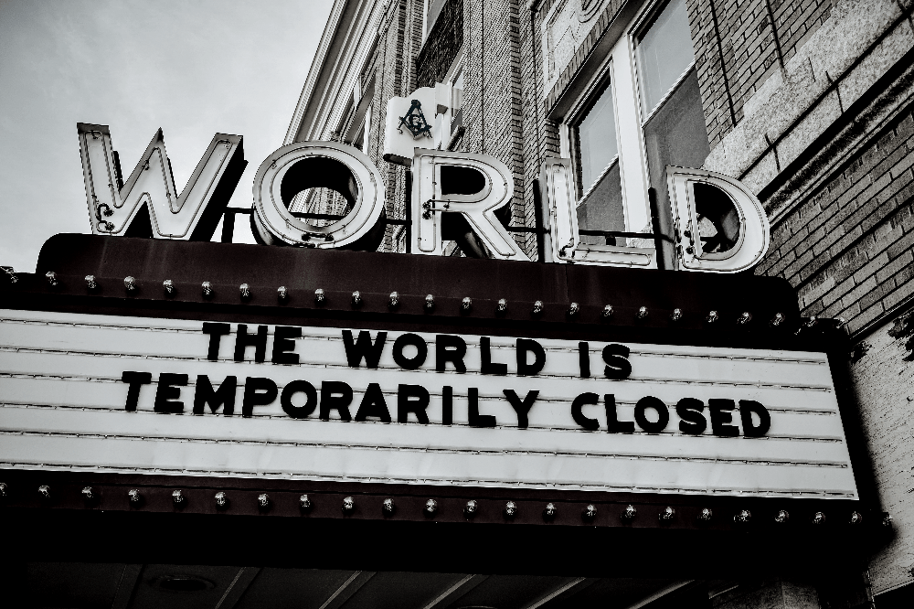 movie sign during pandemic